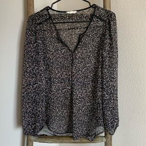 ANTHROPOLOGIE Paint Splatter Print Blouse